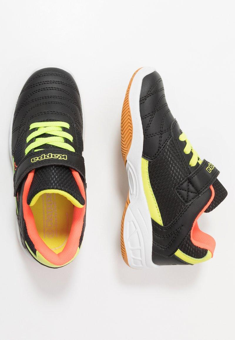 Kappa - DROUM II UNISEX - Sports shoes - black/coral