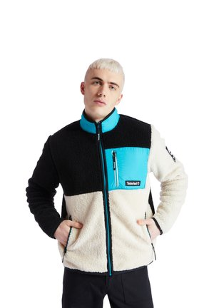 YC OUTDOOR ARCHIVE SHERPA - Giacca da mezza stagione - white smoke-black-tile blue