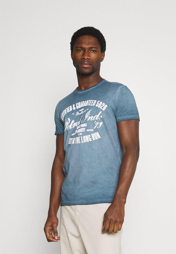 Petrol Industries T-shirt z nadrukiem - petorl blue/niebieski Odzież Męska LFSW