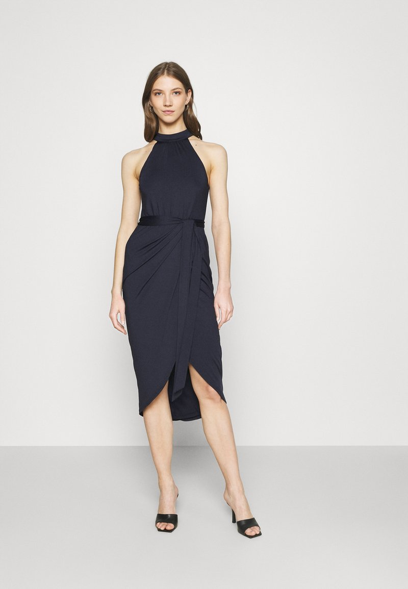 Nly by Nelly - HIGH NECK PLEAT DRESS - Cocktail dress / Party dress - navy