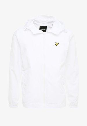 ZIP THROUGH HOODED JACKET - Summer jacket - white