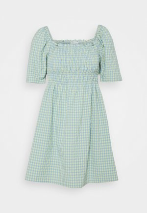 SMOCK SHORT DRESS - Day dress - ashley blue/sunlight