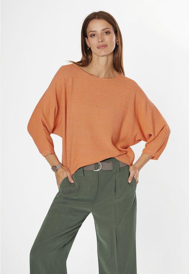 Jumper - mottled orange