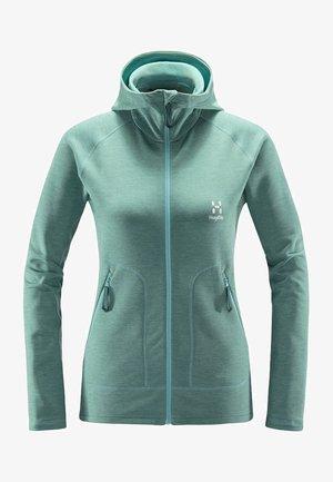 HERON HOOD - Fleece jacket - glacier green