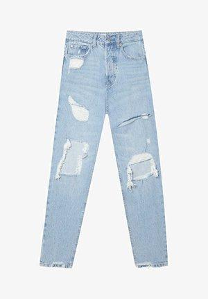 MIT SCHLITZEN  - Slim fit jeans - light blue