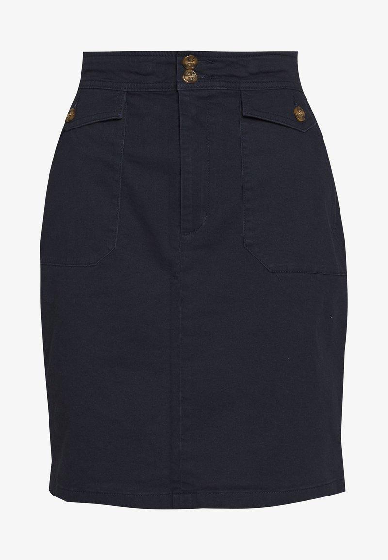 Esprit - BAY COT - A-line skirt - navy