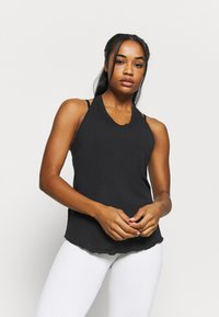 Nike Performance - YOGA CORE COLLECTION TANK - Sports shirt - black/smoke grey - 0