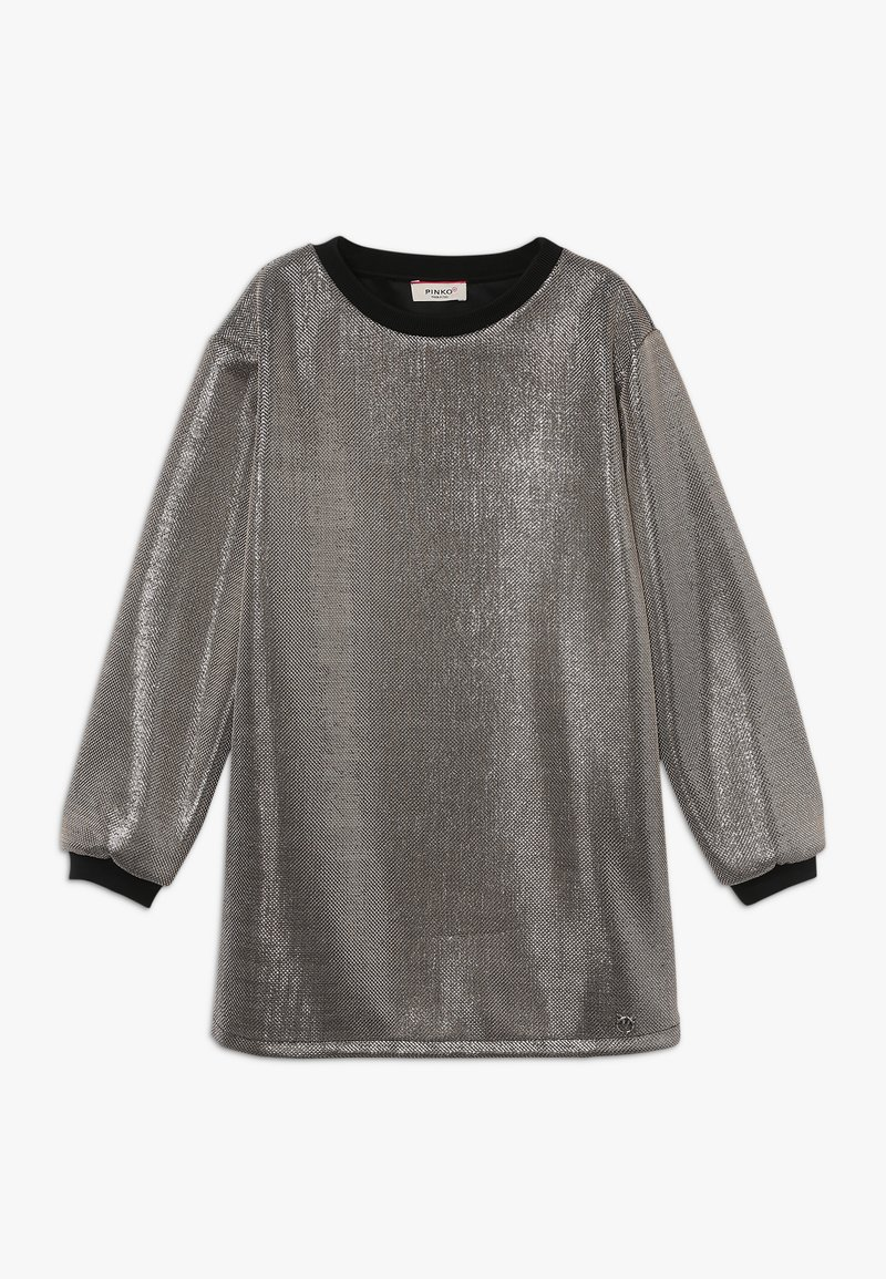 Pinko Up - FLORICOLTORE ABITO MAGLIA - Cocktail dress / Party dress - silver
