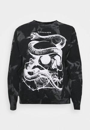 TIE DYE SNAKE - Sweater - black