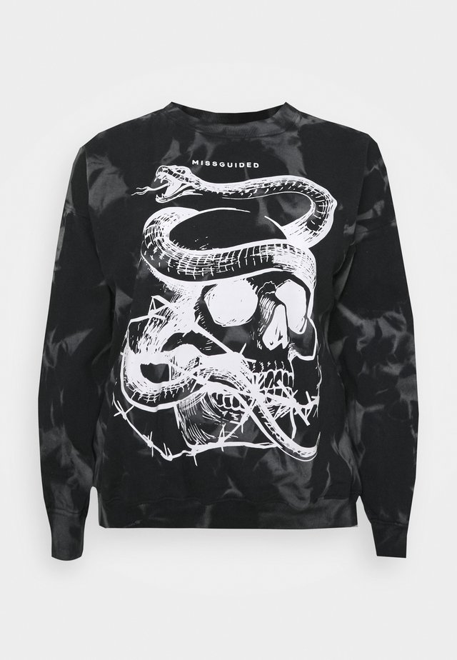 TIE DYE SNAKE - Sweatshirt - black