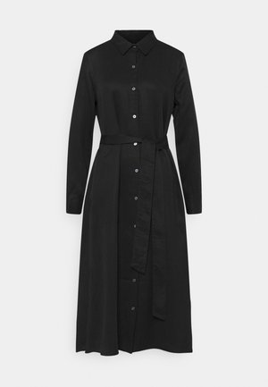 FRONT MIDI - Shirt dress - black