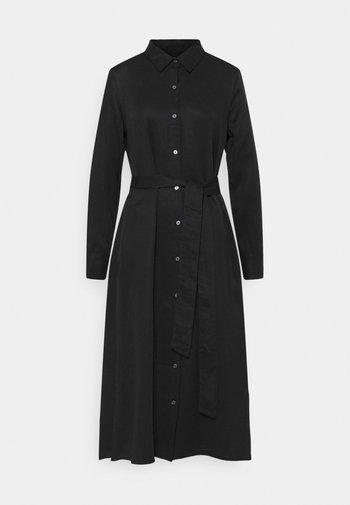 FRONT MIDI - Shirt dress - black