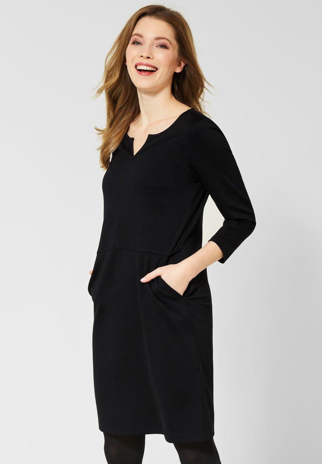 cecil mit taschen - jerseykleid - black/schwarz - zalando.de