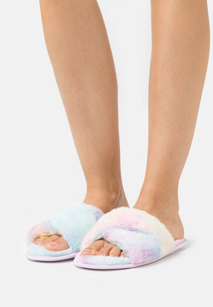 FLUFFY CROSS SLIDER - Slippers - rainbow