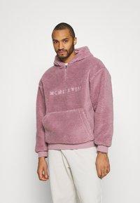 Topman - DUSTY BORG HOOD - Sweater - lilac - 0