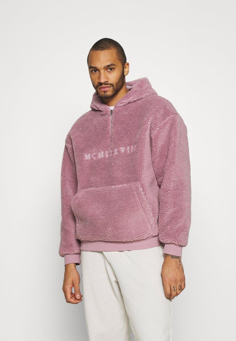 Topman - DUSTY BORG HOOD - Sweater - lilac