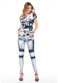 Cipo & Baxx - MIT BIKER-ELEMENTEN - Jeans Skinny Fit - blau - 1
