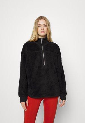 REVERSIBLE SHERPA HALF ZIP - Fleece jumper - black
