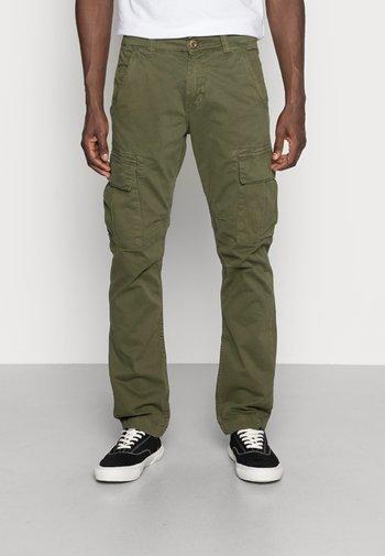 Cargo trousers - dark oliv