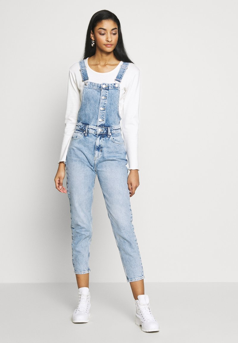 Free People - SHELBY OVERALL - Dungarees - blue