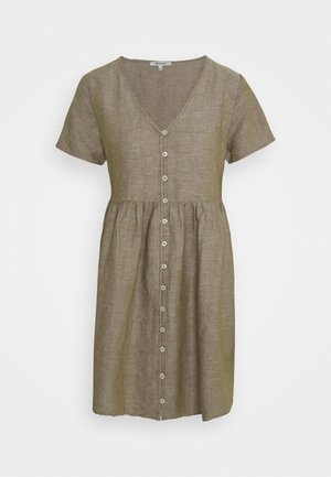 MINI VNECK BUTTONFRONT DRESS  - Shirt dress - olive branch