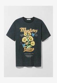 Bershka - MIT PRINT  - Print T-shirt - dark grey - 4