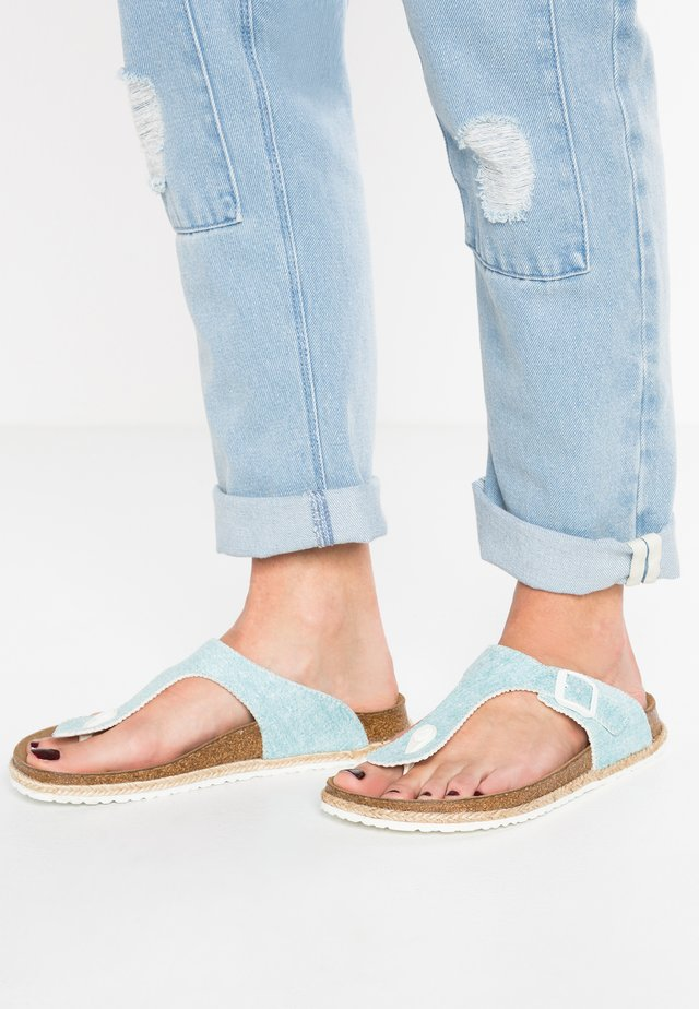 GIZEH - T-bar sandals - beach/light blue