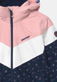 Ziener - ALJA - Kurtka snowboardowa - dark blue/light pink/white - 4