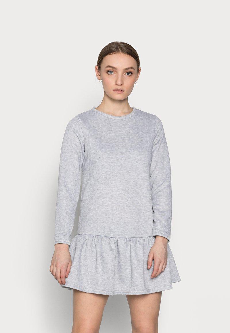 New Look Petite - DROP HEM DRESS - Day dress - grey niu