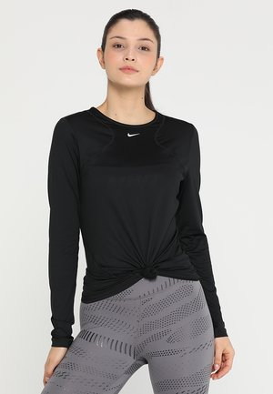 ALL OVER - Sports shirt - black/white