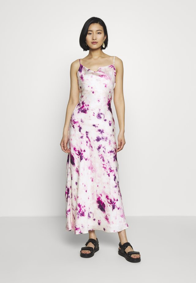 TIE DYE SLIP DRESS - Maksimekko - purple