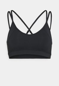 CROSS BACK STRAPPY LONGLINE BRA - Light support sports bra - black