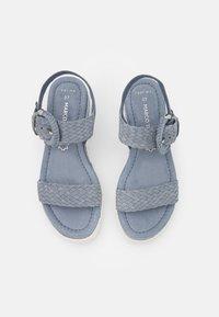 Marco Tozzi - Platform sandals - denim - 5
