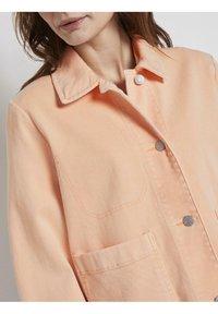 TOM TAILOR - COLORED TWILL - Denim jacket - peach blossom - 3