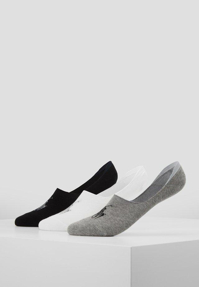 LINER NO SHOW 3 PACK - Trainer socks - black/white