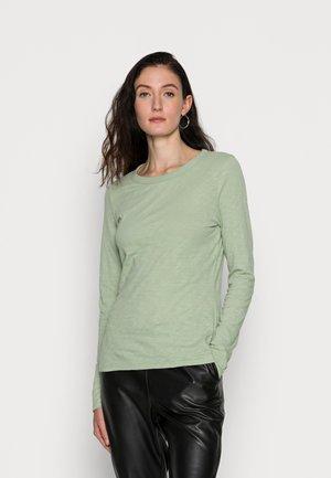 SLIM FIT - Maglietta a manica lunga - pistachio gray