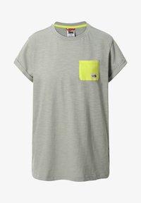 The North Face - W S/S CAMPEN TEE - T-shirt z nadrukiem - dark grey - 0