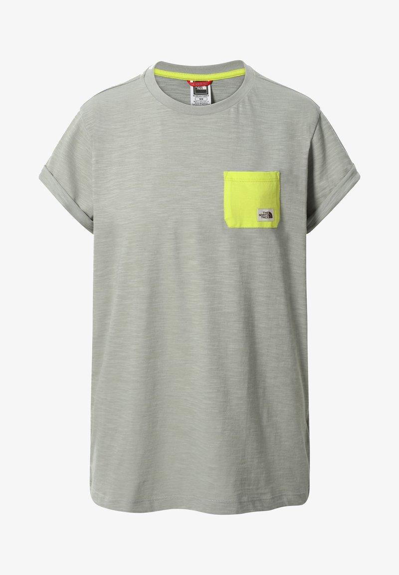 The North Face - W S/S CAMPEN TEE - T-shirt z nadrukiem - dark grey