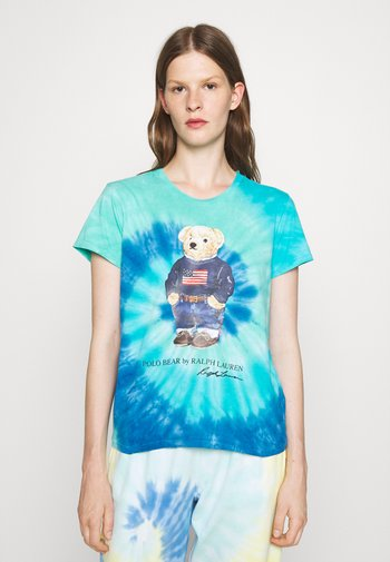 TIE DYE BEAR SHORT SLEEVE - Print T-shirt - blue jerry