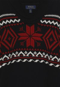 Polo Ralph Lauren - SHAWL - Strickpullover - black/multi - 3