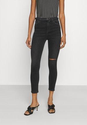 SUSAN STRETCH - Skinny džíny - black