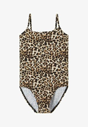 LEOPARDENPRINT - Swimsuit - black