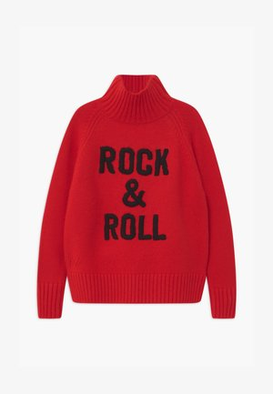 POLO NECK - Pullover - bright red