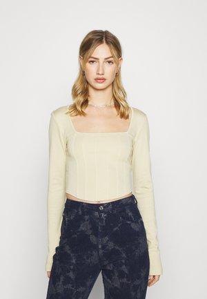 JASMIN AZIZAM CORSET - Långärmad tröja - beige/khaki