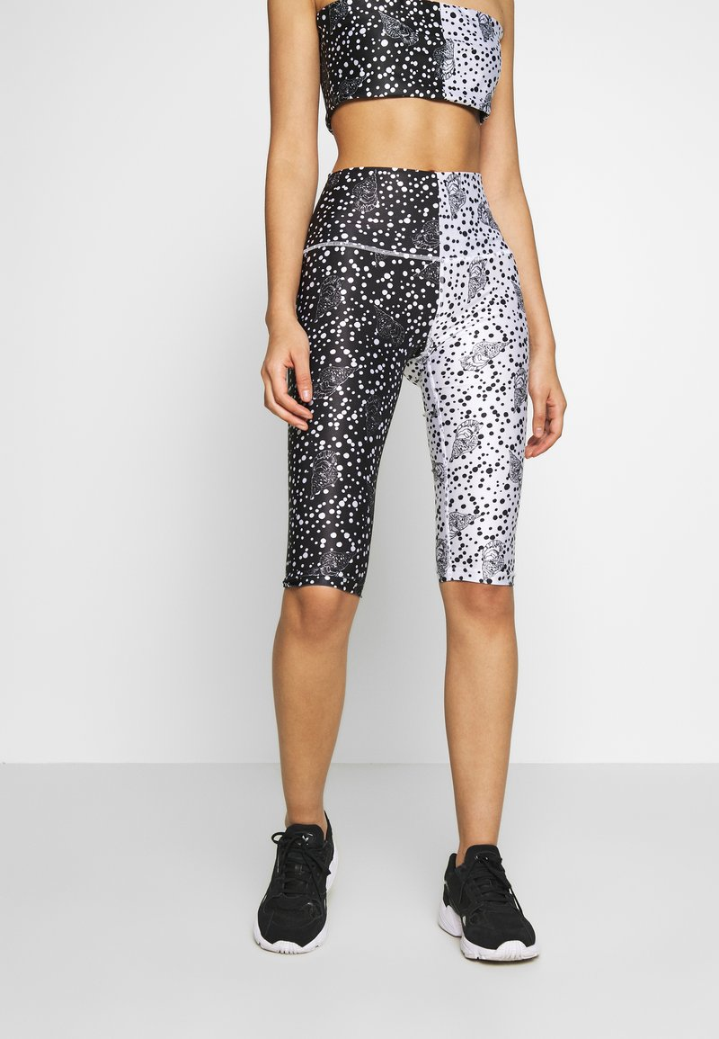 H2O Fagerholt - Leggings - black/off white seashell
