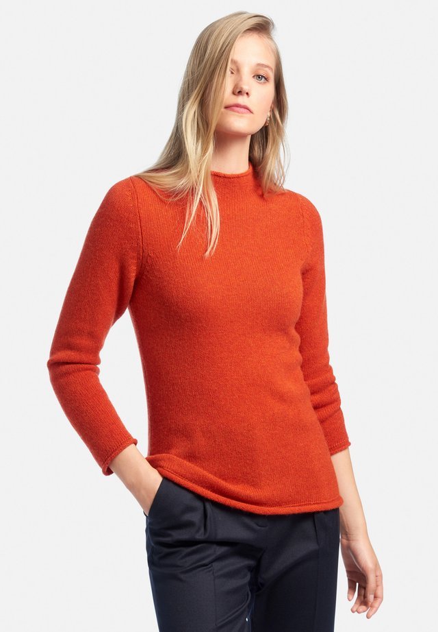 Pullover - ziegelrot