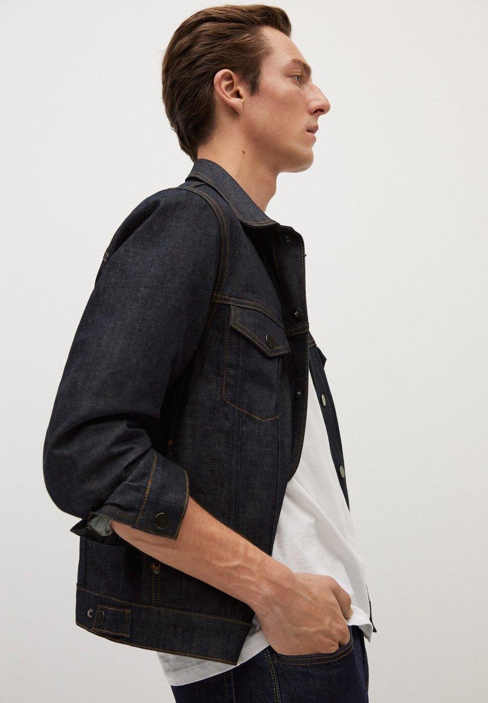 Mango ADRIEN - Veste en jean - open blå