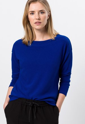 Long sleeved top - true blue