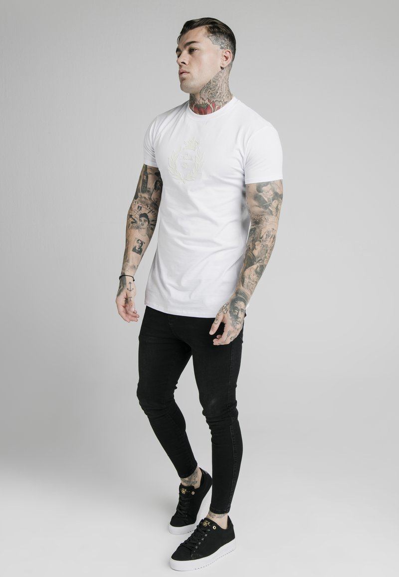 SIKSILK - T-shirt imprimé - white