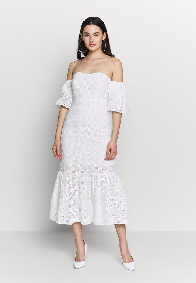 TEXTURED MINI DRESS - Vestito estivo - whiite